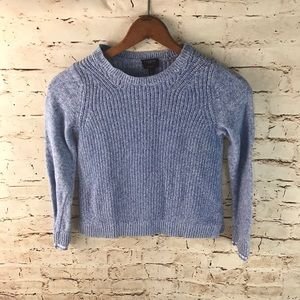 Talbots Woven Pima Cotton Crew Neck Sweater